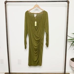 Dresses & Skirts - MLLP Long Sleeve Faux Wrap Dress